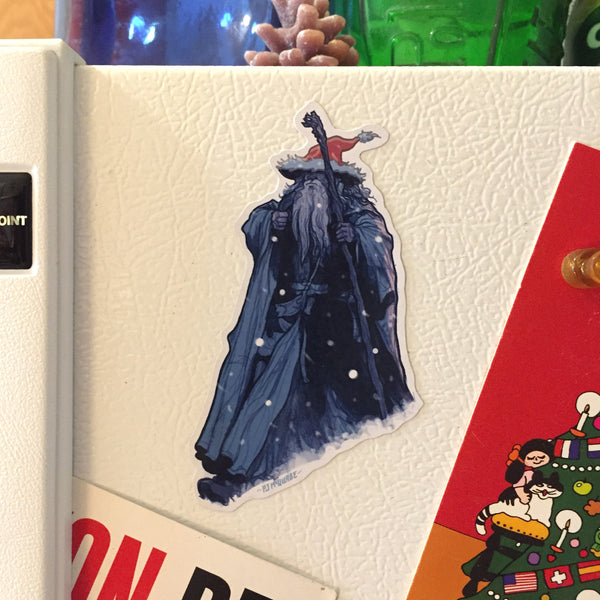 GANDALF Lord of the Rings Christmas FRIDGE MAGNET!