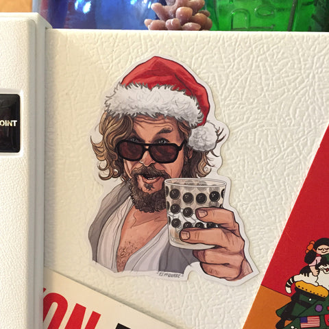 The DUDE Big Lebowski Christmas Fridge Magnet!