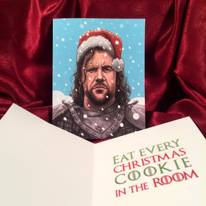 THE HOUND Game of Thrones CHRISTMAS Card!