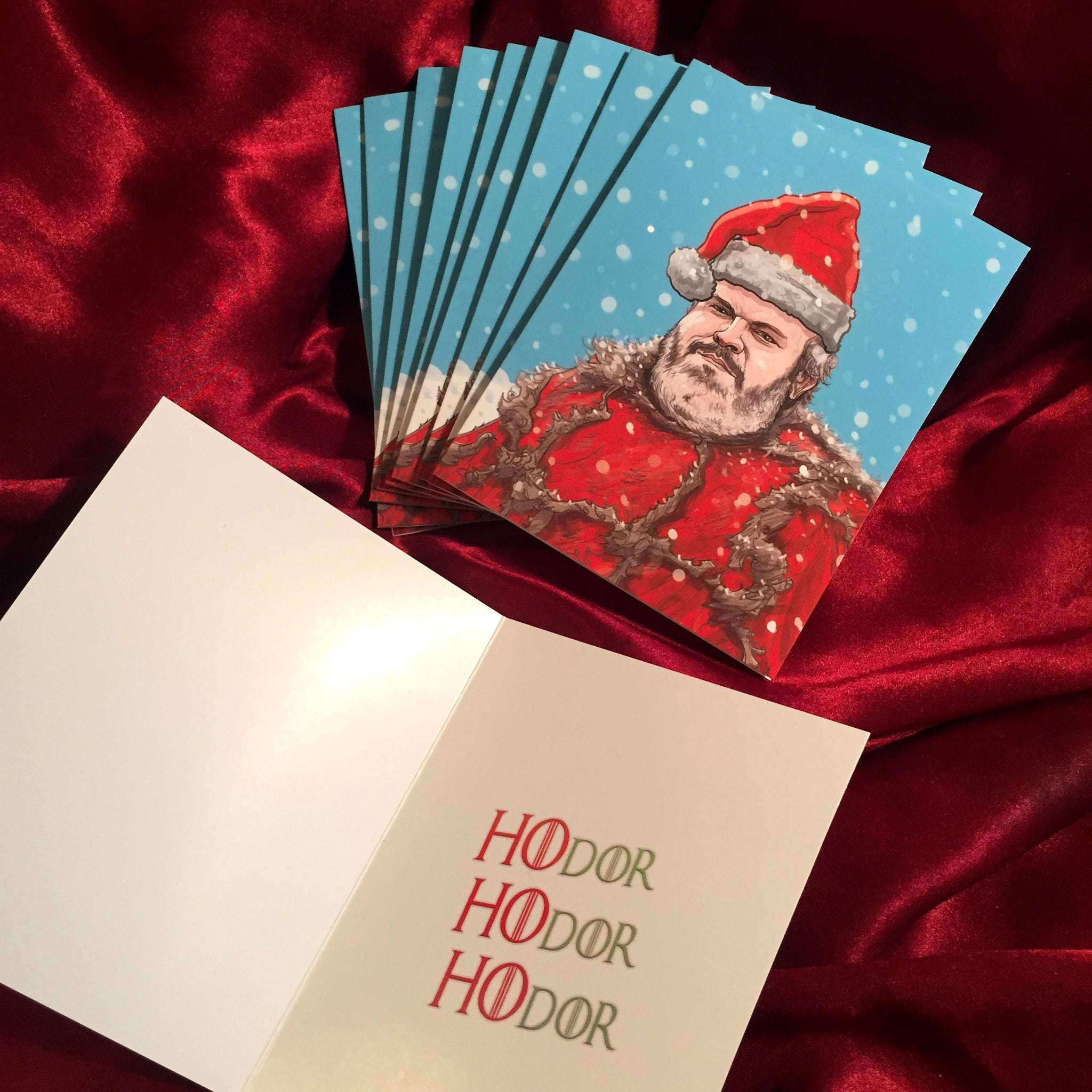 10 PACK HODOR Christmas Game of Thrones Cards!