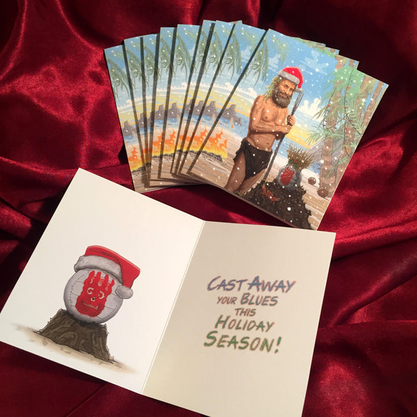 10 Pack CAST AWAY Christmas Cards!