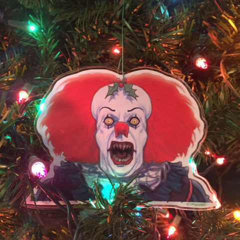 PENNYWISE 1990 Demon Face IT Christmas ORNAMENT!