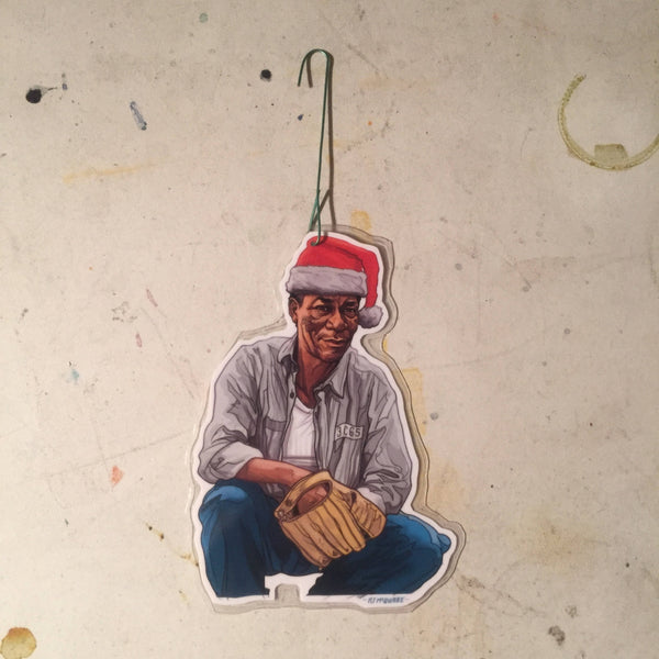 RED Morgan Freeman SHAWSHANK REDEMPTION Christmas Ornament!