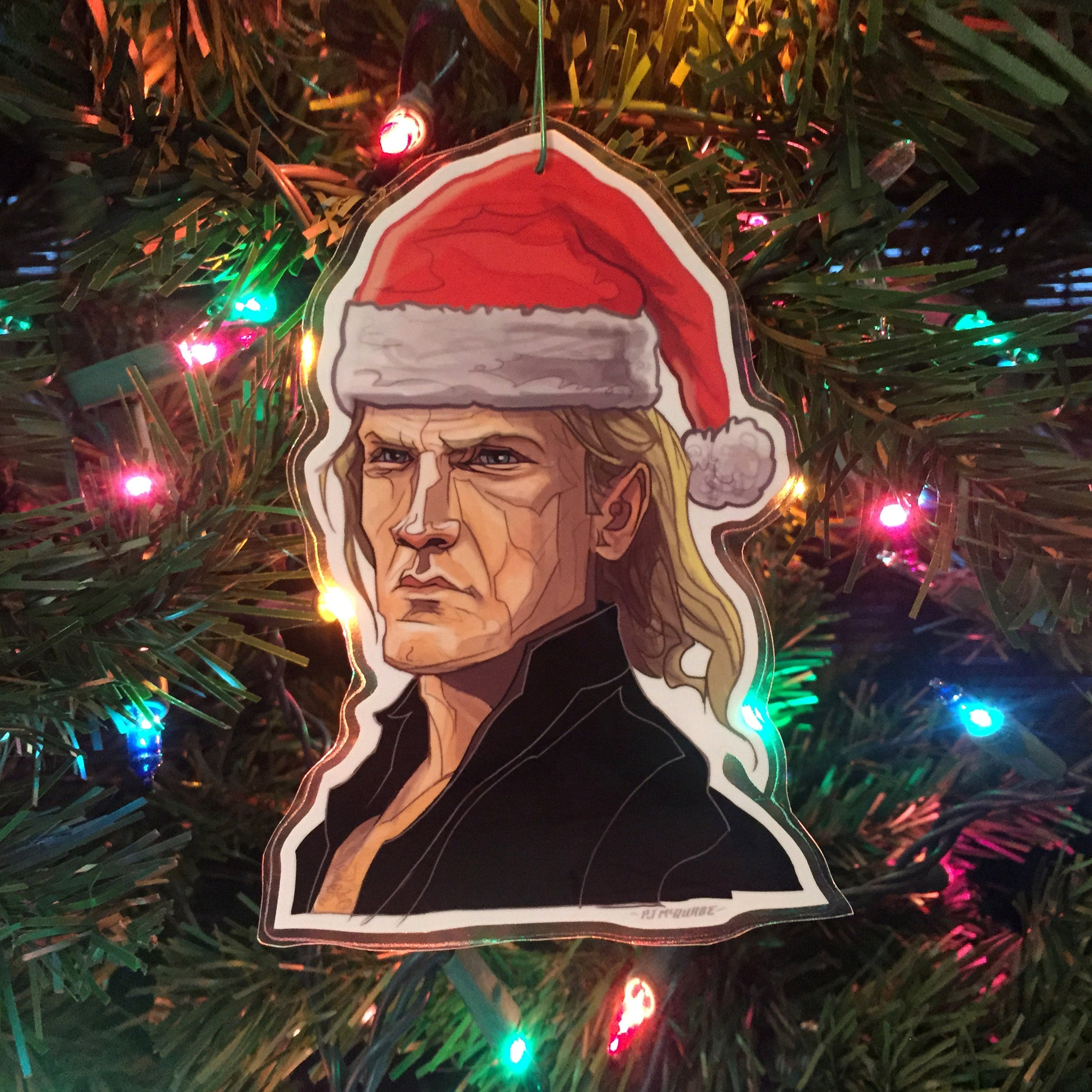 Karl DIE HARD Christmas ORNAMENT!