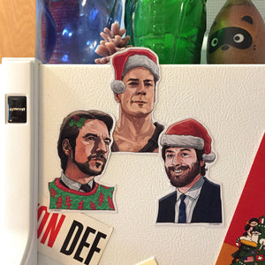 DIE HARD Christmas Fridge Magnet 3 Pack!