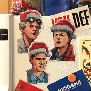 BACK to the FUTURE Christmas Fridge Magnet SET!