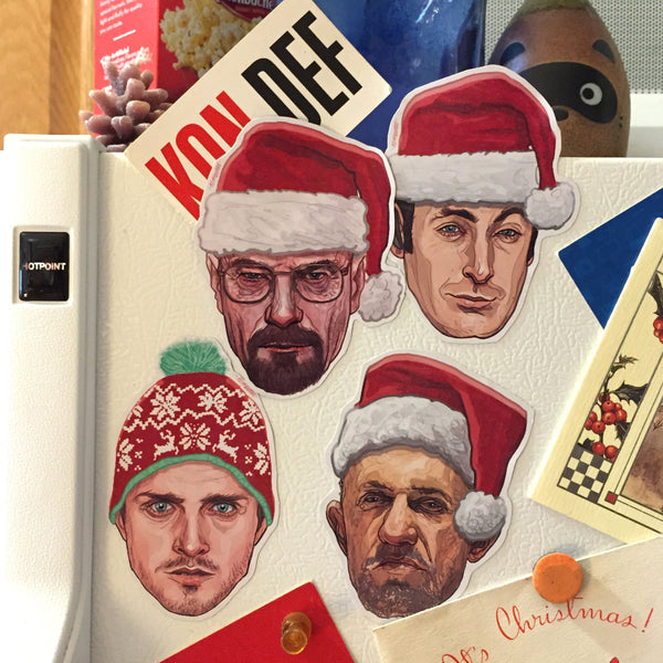 BREAKING BAD Christmas Fridge Magnet SET!