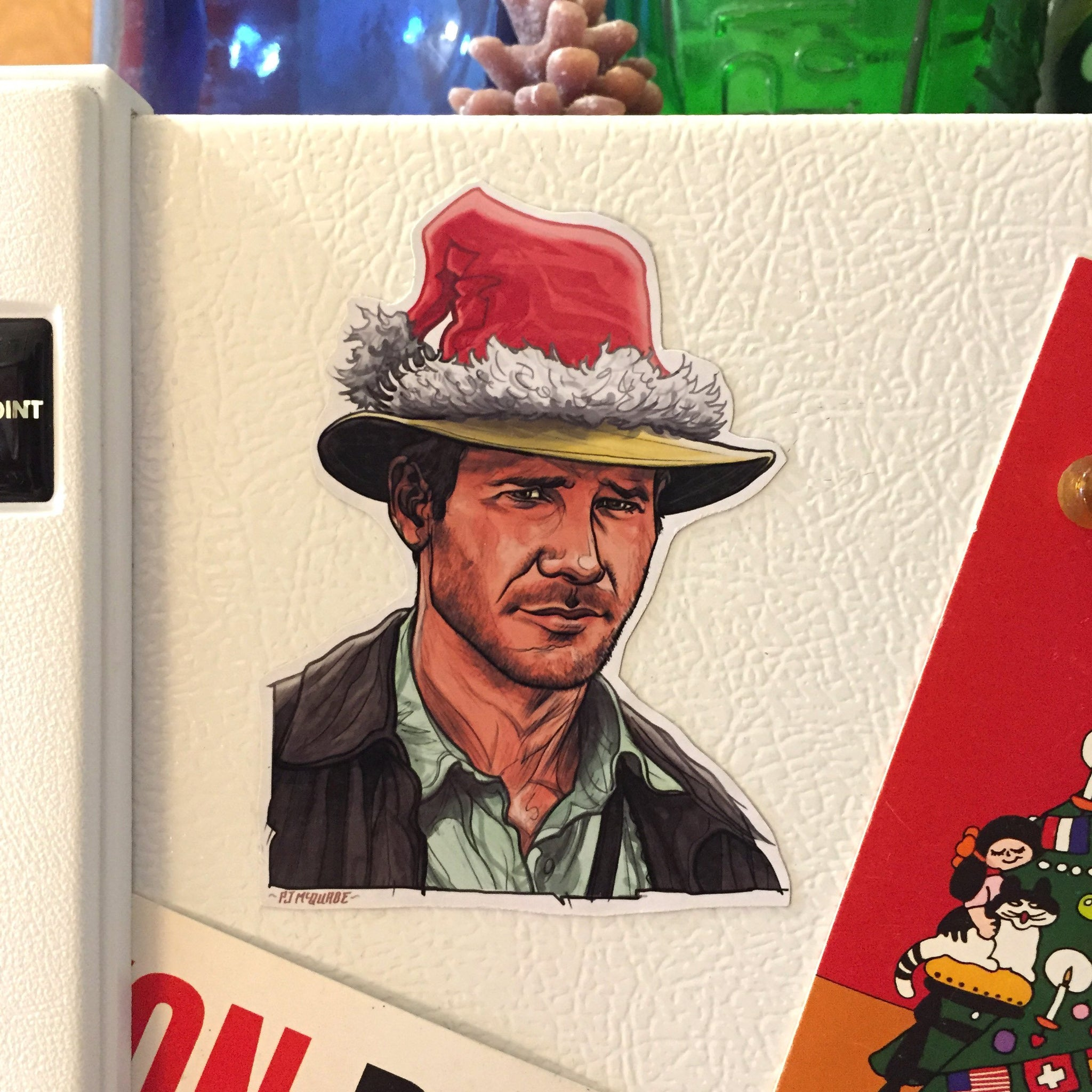 INDIANA JONES Christmas Fridge MAGNET!