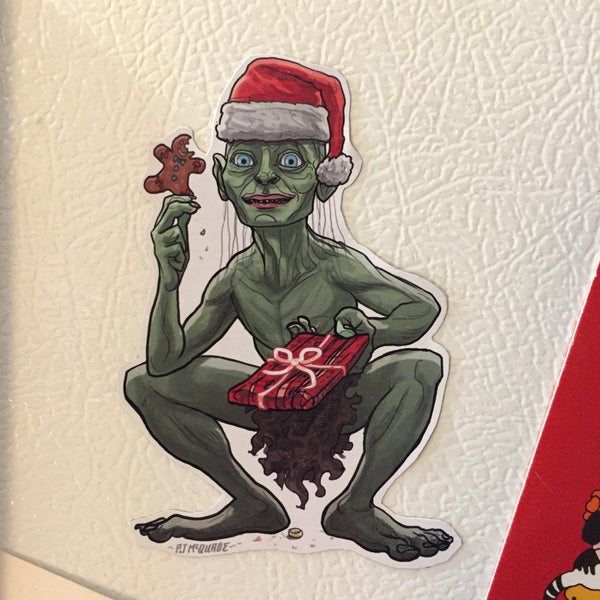 GOLLUM Lord of the Rings Christmas FRIDGE MAGNET!