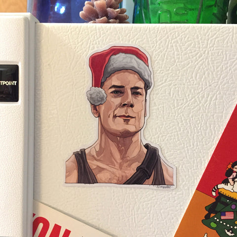 John McClane DIE HARD Christmas Fridge Magnet!