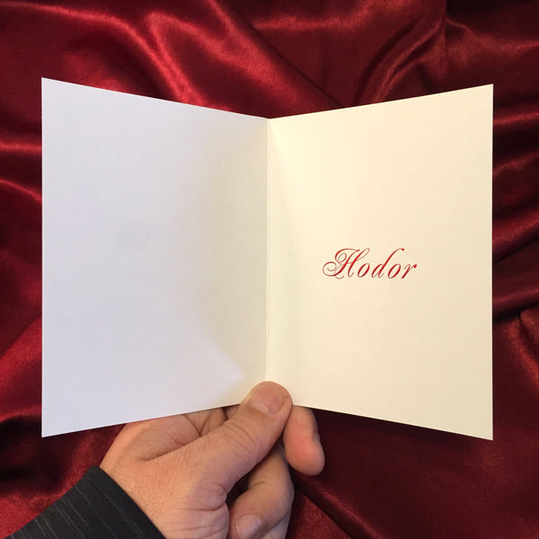 HODOR Valentine'S Day CARD!