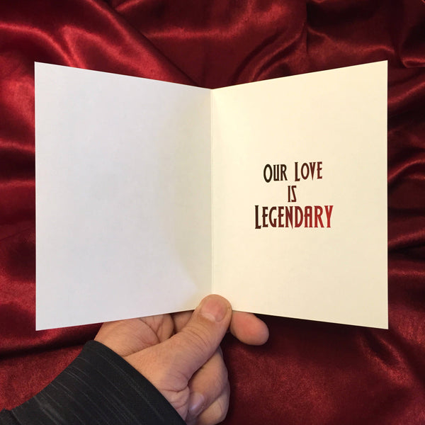 Lord of Darkness LEGEND Valentine's Day Card