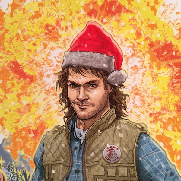 10 PACK MACGRUBER! CHRISTMAS CARDS!