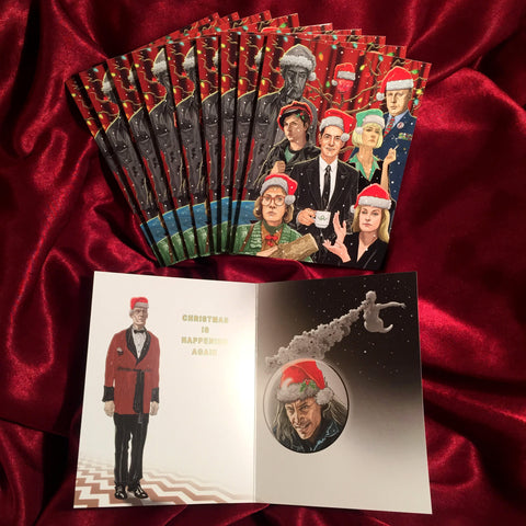 10 Pack TWIN PEAKS CHRISTMAS Cards!