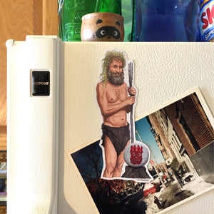 CAST AWAY Fridge Magnet FULL Body Hanks and Wilson!