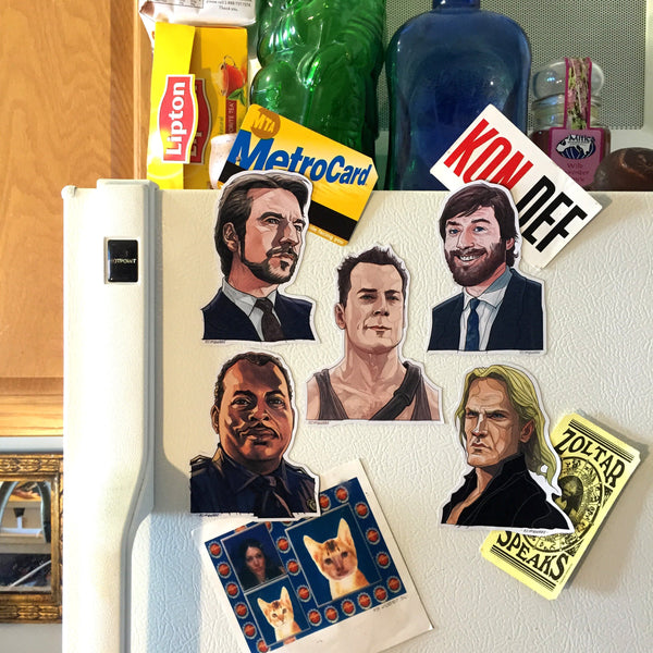 DIE HARD Fridge Magnet SET!