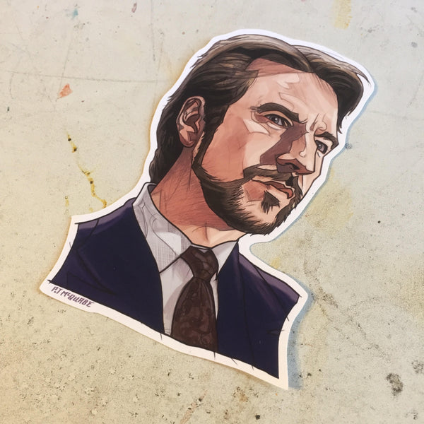 Hans Gruber DIE HARD Waterproof Sticker!