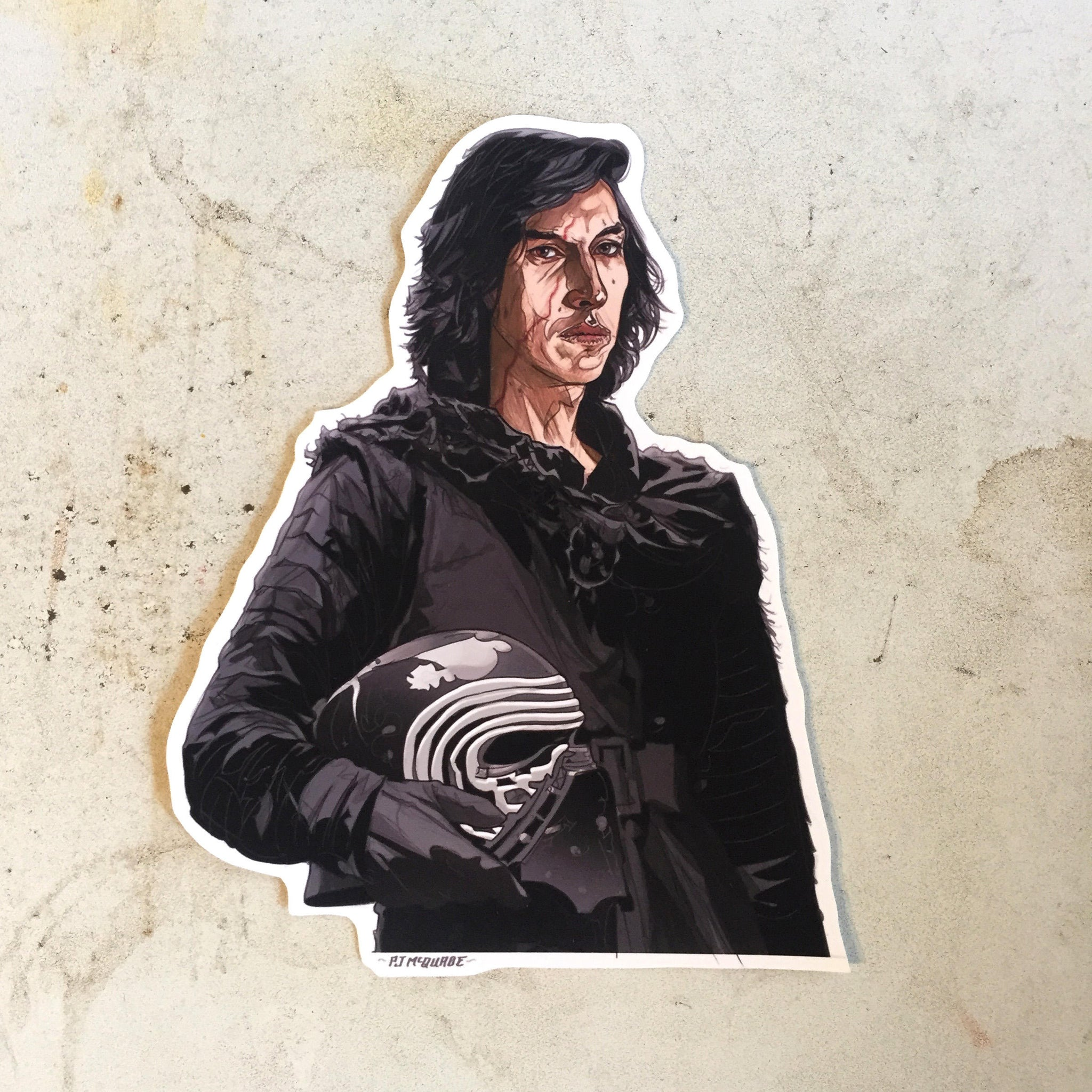 Kylo Ren STAR WARS Waterproof STICKER!