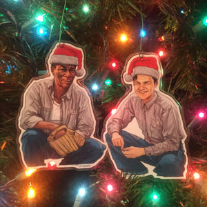 Andy & Red SHAWSHANK REDEMPTION Christmas ORNAMENT Combo!