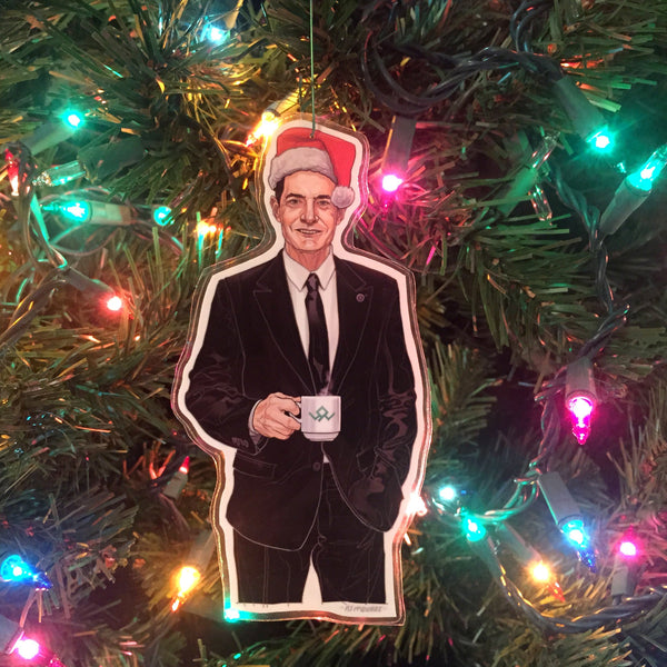 Agent Cooper TWIN PEAKS Christmas ORNAMENT!