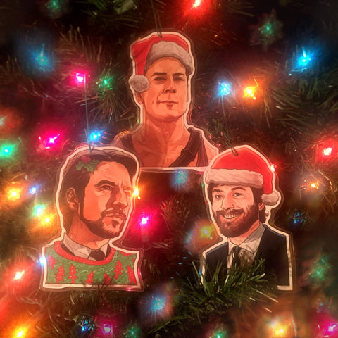 DIE HARD Christmas ORNAMENT 3 Pack Combo!