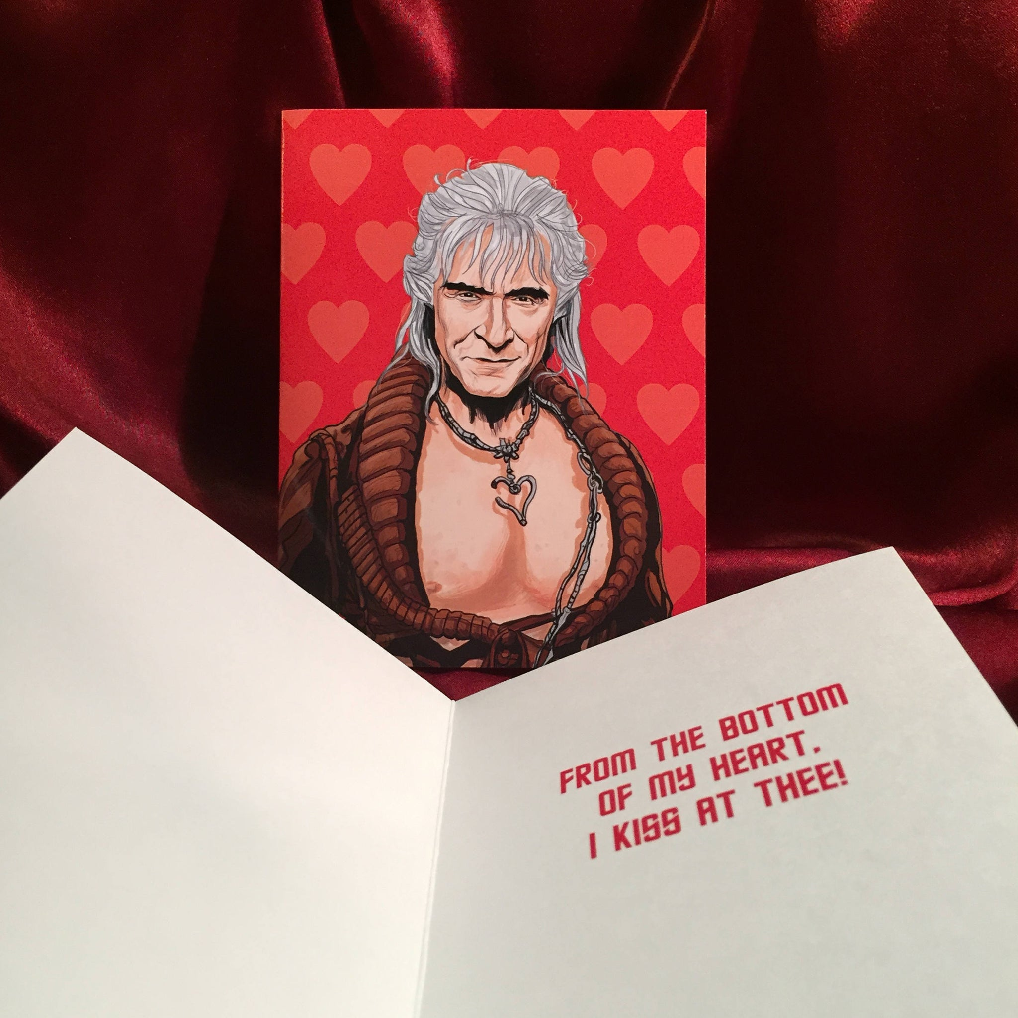 STAR TREK Khan Valentine's Day CARD!