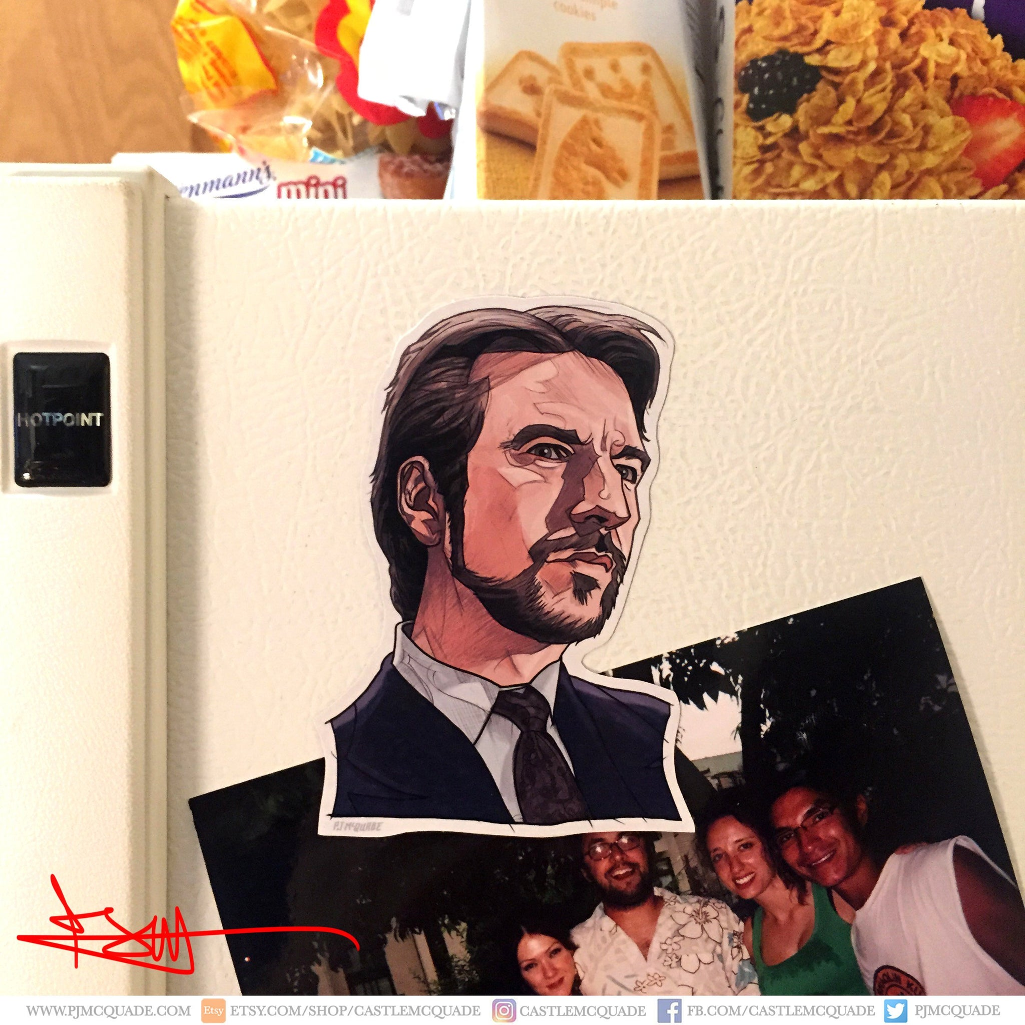 Hans Gruber DIE HARD Fridge MAGNET!
