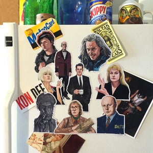 TWIN PEAKS Fridge Magnet SET! - Free Agent Cooper Birthday Card w/ every Set