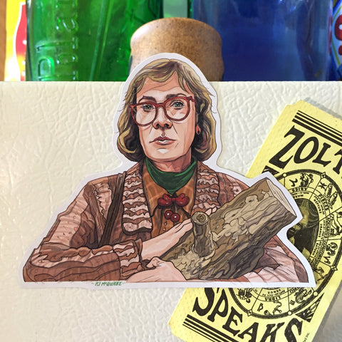 Log Lady TWIN PEAKS FRIDGE Magnet!