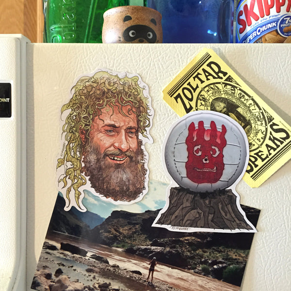 CAST AWAY Tom Hanks & Wilson CAST AWAY Fridge Magnet COMBO!
