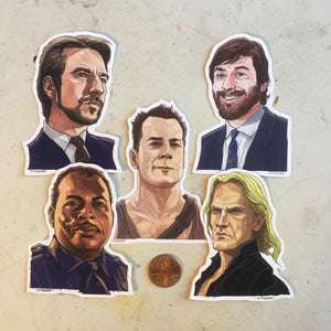 DIE HARD Little Sticker SET!