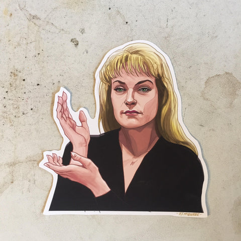 Laura Pamer TWIN PEAKS STICKER!