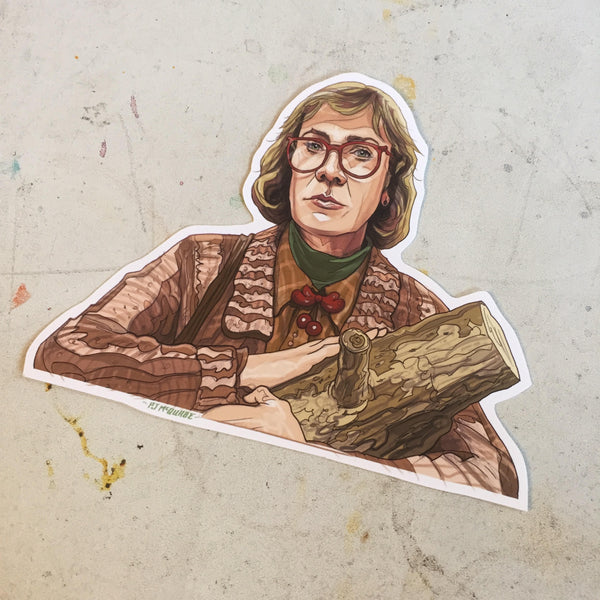 Log Lady TWIN PEAKS STICKER!