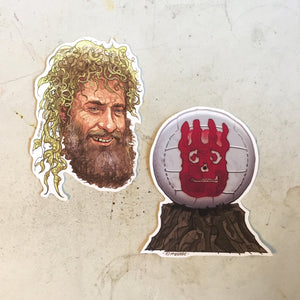 Tom Hanks & Wilson CAST AWAY Sticker COMBO!