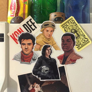 New Trilogy STAR WARS Fridge Magnet SET!