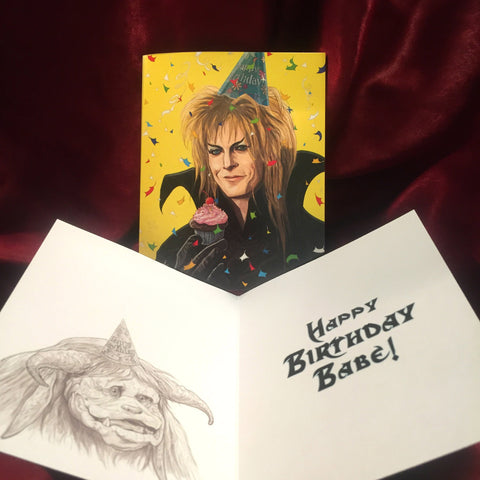 JARETH Labyrinth BIRTHDAY CARD!