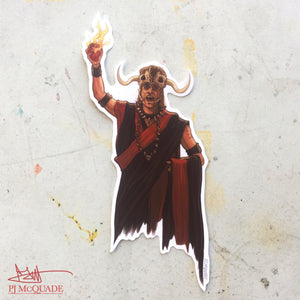 Mola Ram INDIANA JONES Waterproof STICKER!
