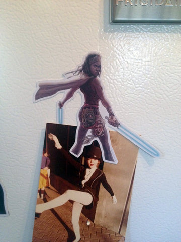 WALKING DEAD Michonne Star Wars Jedi Fridge MAGNET!