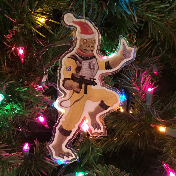 BOSSK the Bounty Hunter STAR WARS Christmas Ornament!