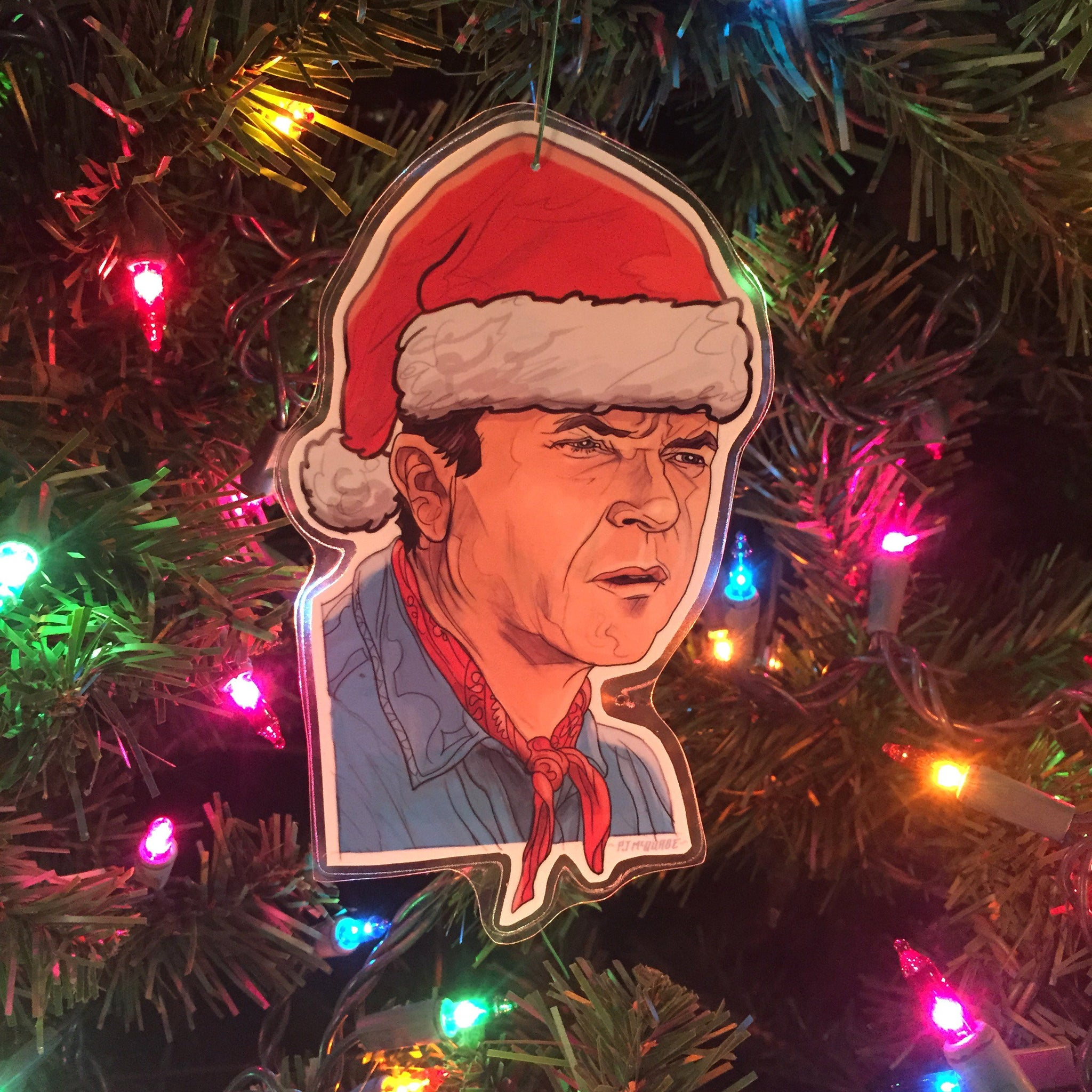 ALAN GRANT Jurassic Park CHRISTMAS Ornament!