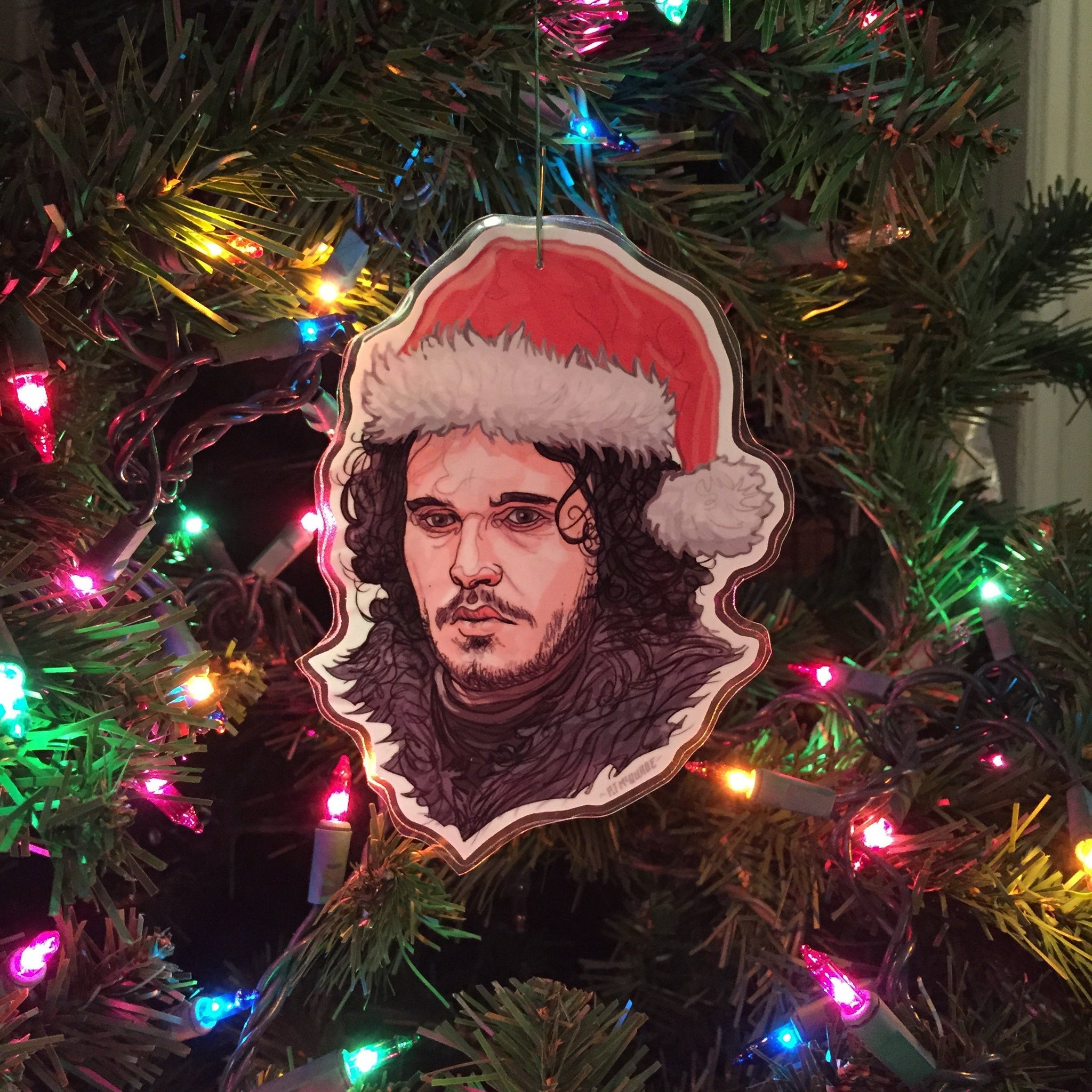 Jon Snow GAME of THRONES Christmas ORNAMENT!