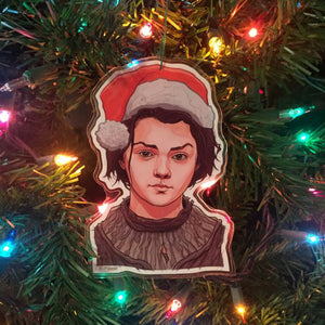 ARYA STARK Game of Thrones Christmas ORNAMENT!