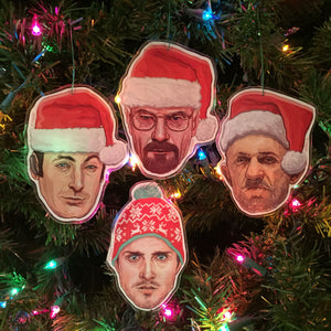 BREAKING BAD Christmas Ornaments 4 Pack SET!