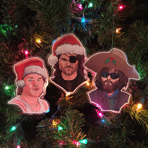 KURT RUSSELL Christmas Ornament 3 Pack COMBO!