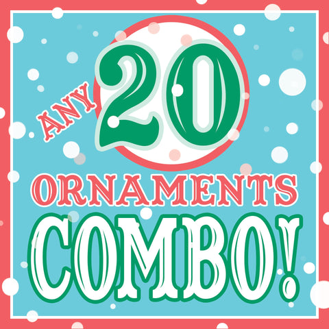 ANY 20 Christmas Ornaments DISCOUNT COMBO!