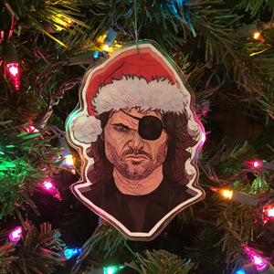 SNAKE PLISSKEN Escape From New York CHRISTMAS Ornament!