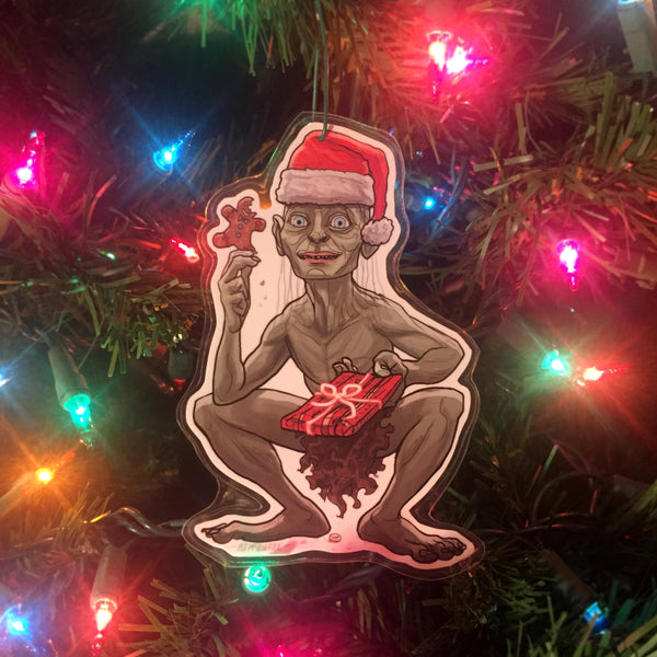 GOLLUM Lord of The Rings CHRISTMAS ORNAMENT!