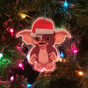 Gizmo GREMLINS CHRISTMAS Ornament!