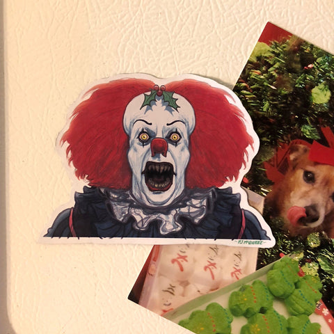 PENNYWISE Demon 1990 Christmas FRIDGE MAGNET!