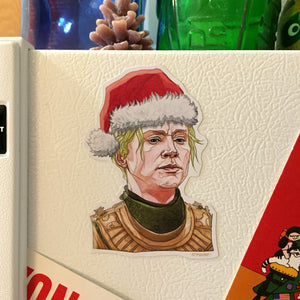 BRIENNE of TARTH Game of Thrones CHRISTMAS Fridge Magnet!